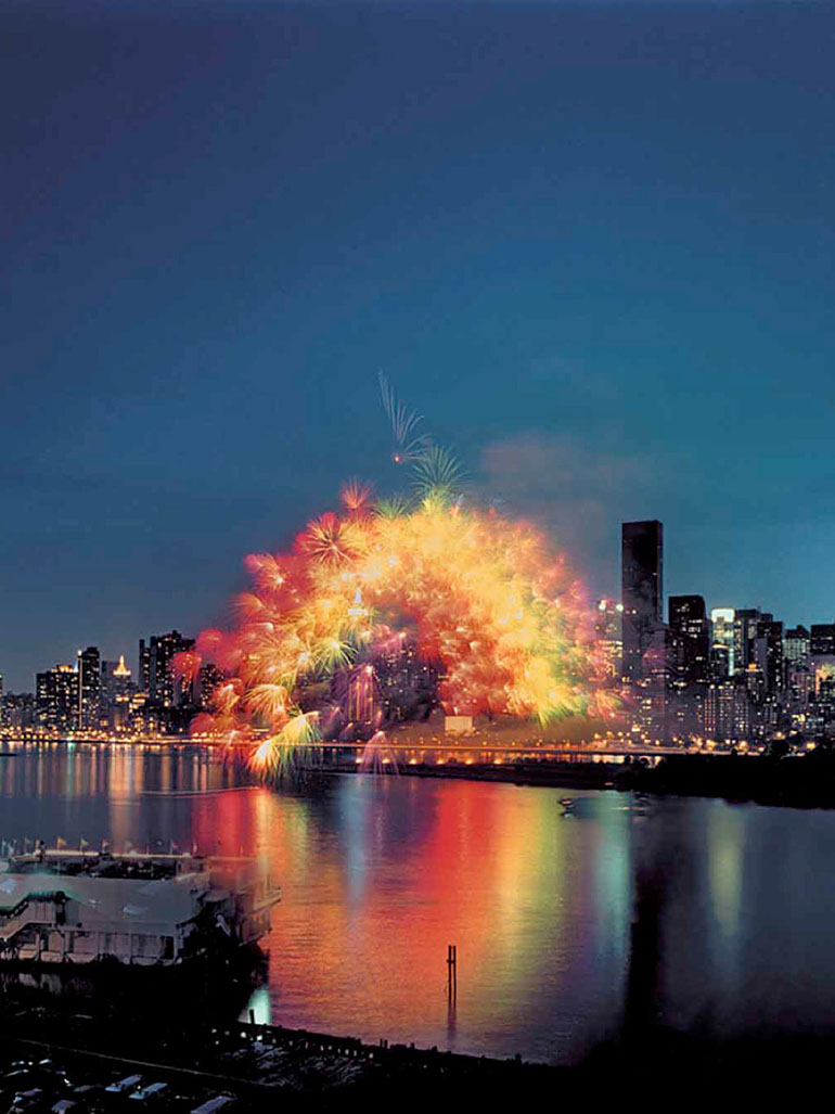 Cai Guo-Qiang's rainbow explodes over New York