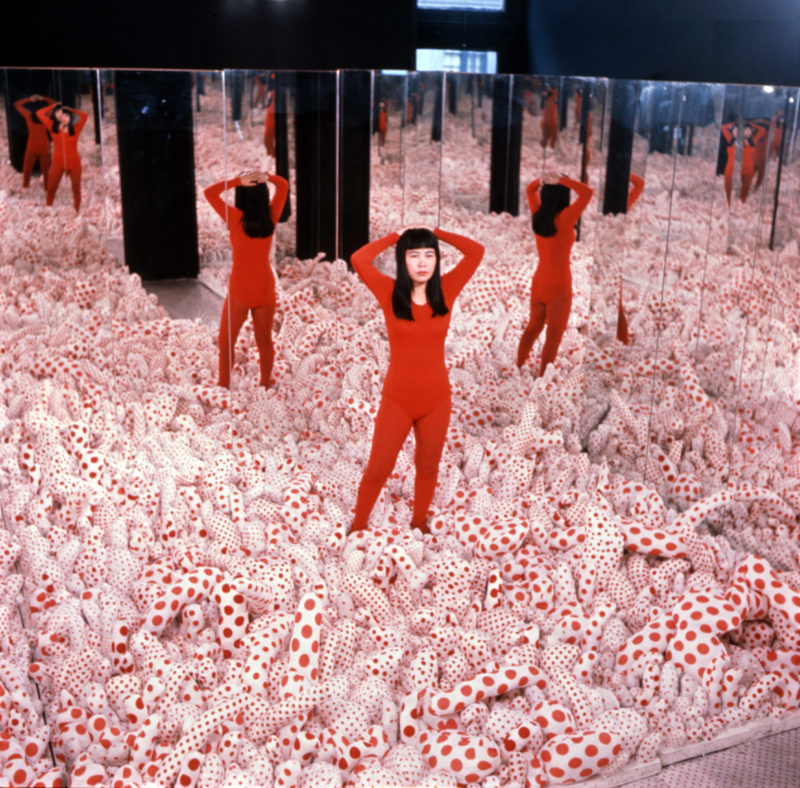 Installation view of Infinity Mirror Room—Phalli's Field, 1965, in Floor Show, Castellane Gallery, New York, 1965