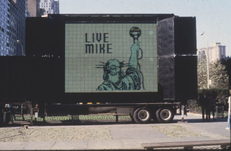 Jenny Holzer - Sign on a Truck, Nov 3-5, 1984 at Grand Army Plaza, New York