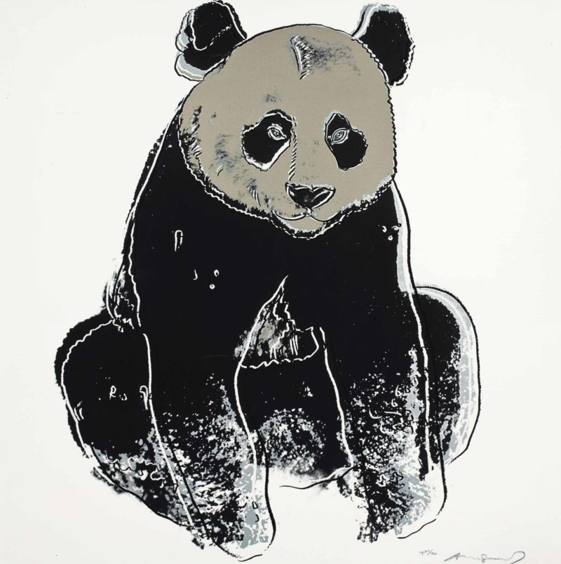 Andy Warhol – Giant Panda, 1983, from Endangered Species, screenprint, 96,5 x 96,2 cm (38 x 37 7/8 in.)