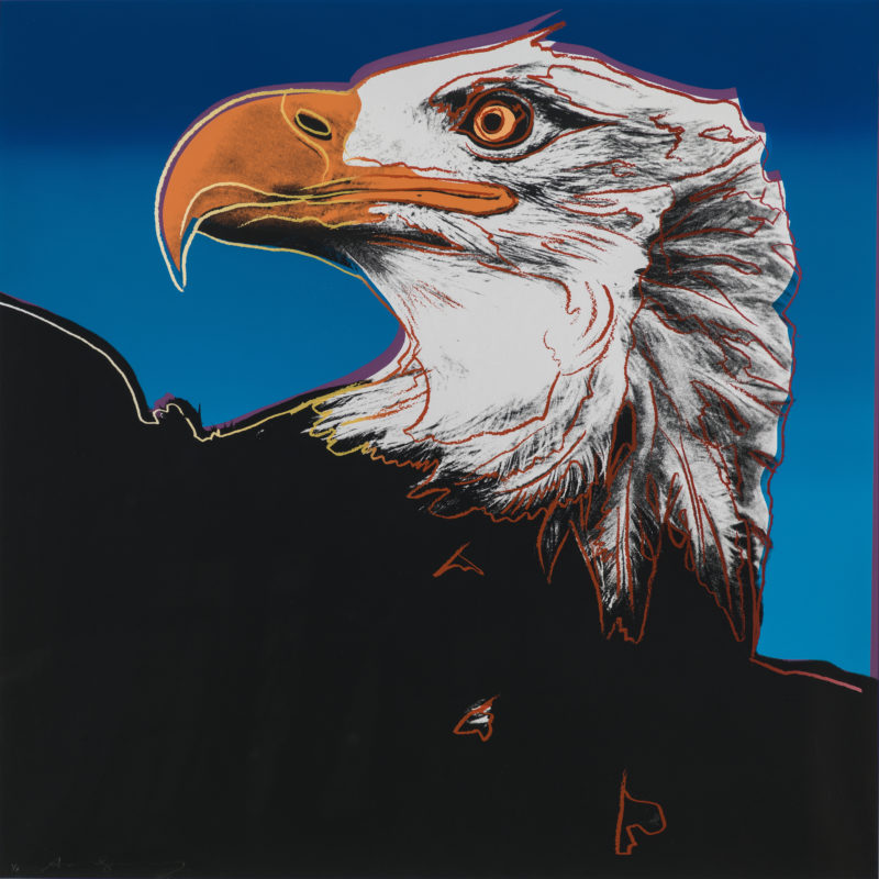 Andy Warhol - Bald Eagle, 1983, from Endangered Species, screenprint, 96,5 x 96,2 cm (38 x 37 7/8 in.)