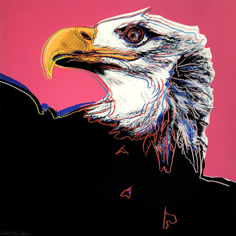 Andy Warhol - Bald Eagle, 1983, from Endangered Species, screenprint, 96,5 x 96,2 cm (38 x 37 7/8 in.), Unique Trial Proof