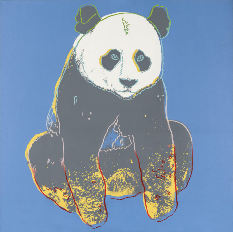 Andy Warhol - Giant Panda, 1983, acrylic on canvas, 153 x 153 cm (60 1/4 x 60 1/4 in)