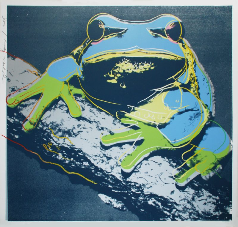 Andy Warhol - Pine Barrens Tree Frog, 1983, screenprint, 96,5 x 96,2 cm (38 x 37 7/8 in.), unique proof