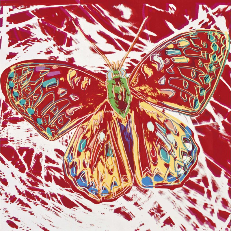 Andy Warhol - San Francisco Silverspot, 1983, synthetic polymer and silkscreen inks on canvas, 152.4 x 152.4 cm, (60 x 60 in.)