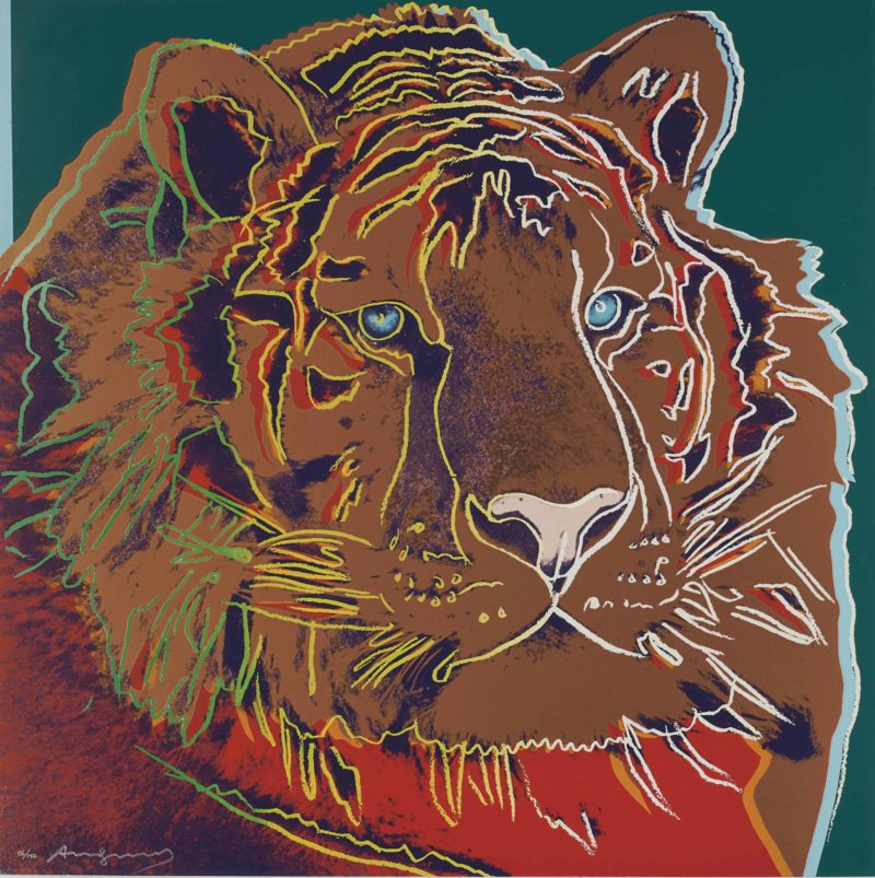 Andy Warhol - Siberian Tiger, 1983, screenprint, 96,5 x 96,2 cm (38 x 37 7/8 in.)