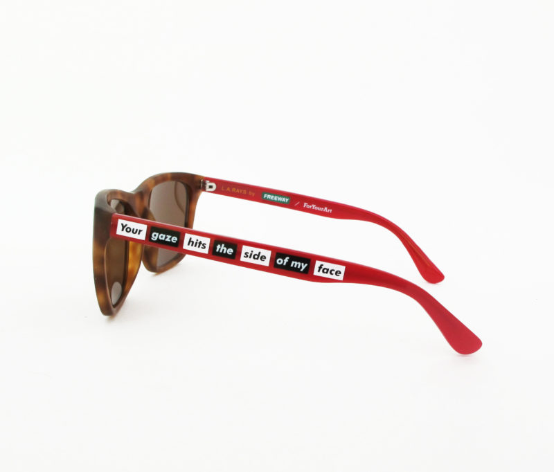 Barbara Kruger - Sunglasses by Freeway Eyewear and ForYourArt