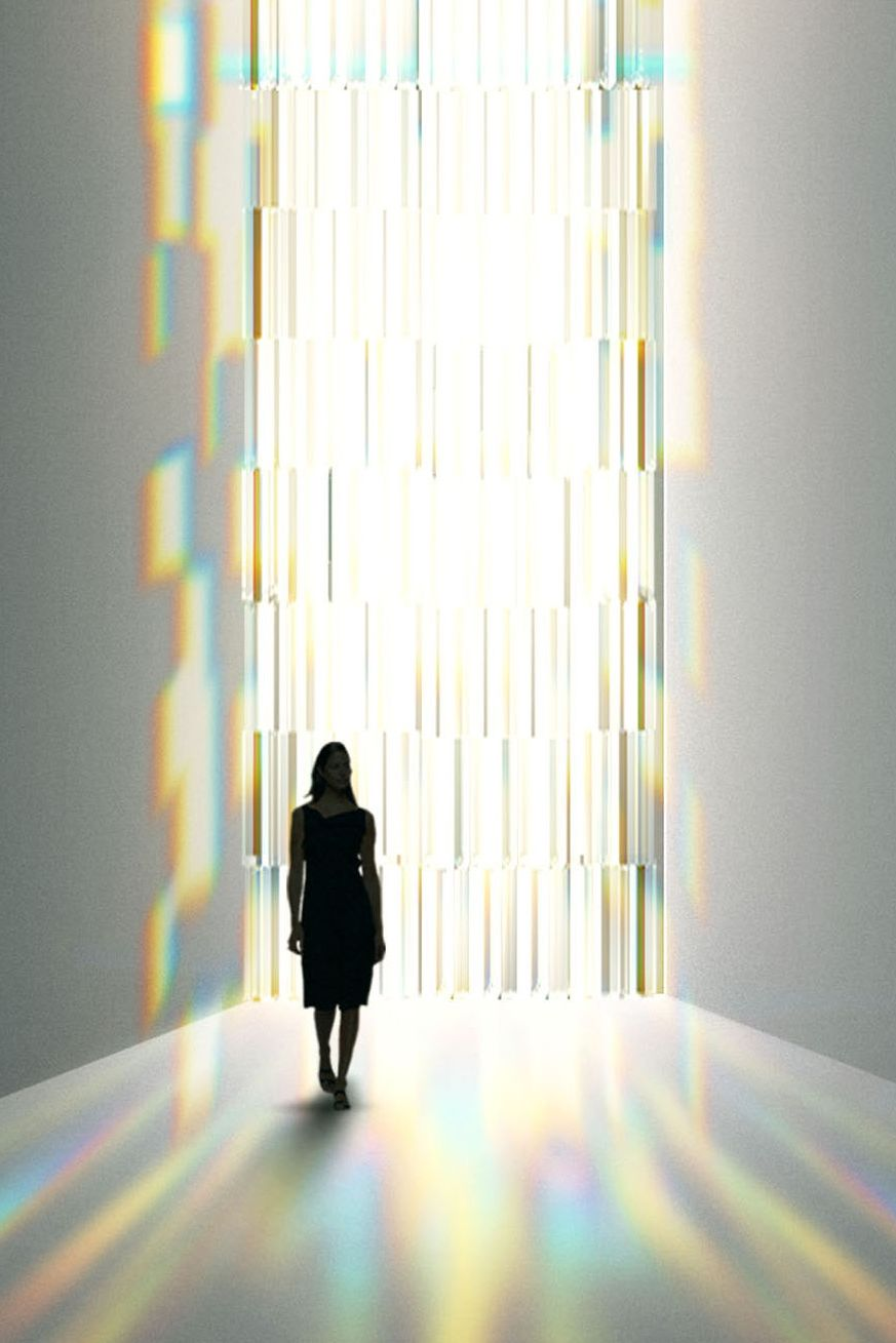 Tokujin Yoshioka - Rainbow Church installation view