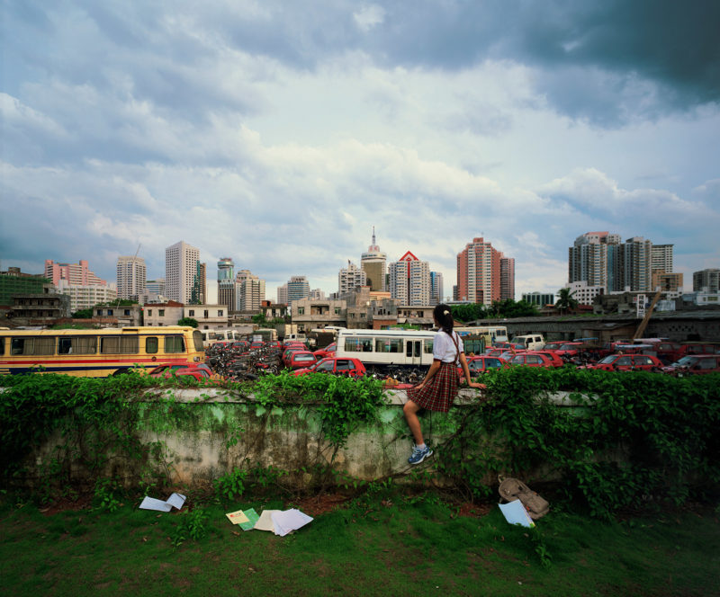 Weng Fen – Sitting on the Wall – Haikou 2, 2002-2003