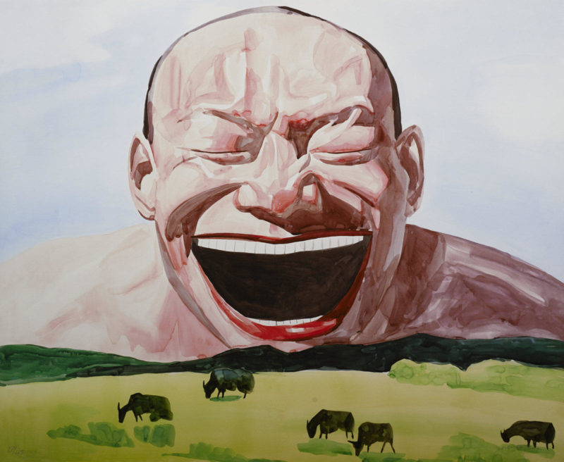 Yue Minjun - Your Smile Is A Sunny Day (Smile-ism No. 8), 2006, Lithograph print on paper, 88.9 x 109 cm (35 x 42 15/16 in)