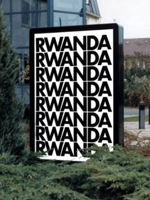 This was Alfredo Jaar's Rwanda's project