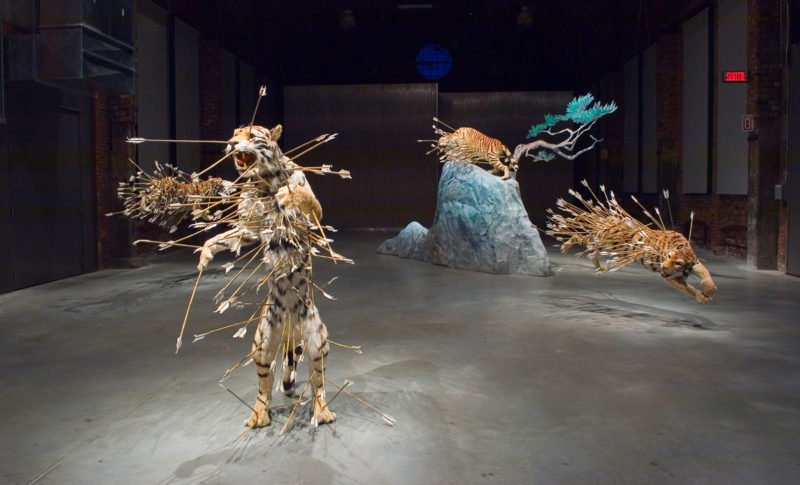 Cai Guo-Qiang – Inopportune -Stage One, 2004, Shawinigan Space, National Gallery of Canada, Québec, 2006