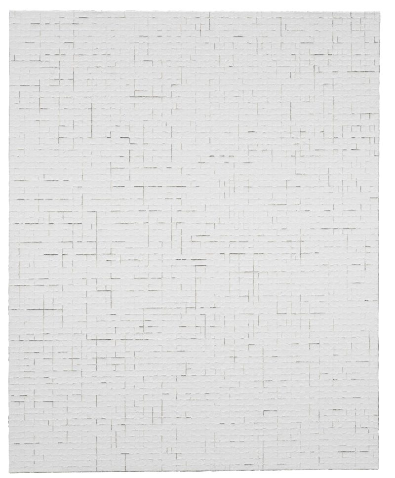 Chung Sang-hwa (정상화) – Untitled 2014-3-12, 2014, Acrylic and kaolin on canvas, 162.2 x 130.3 cm