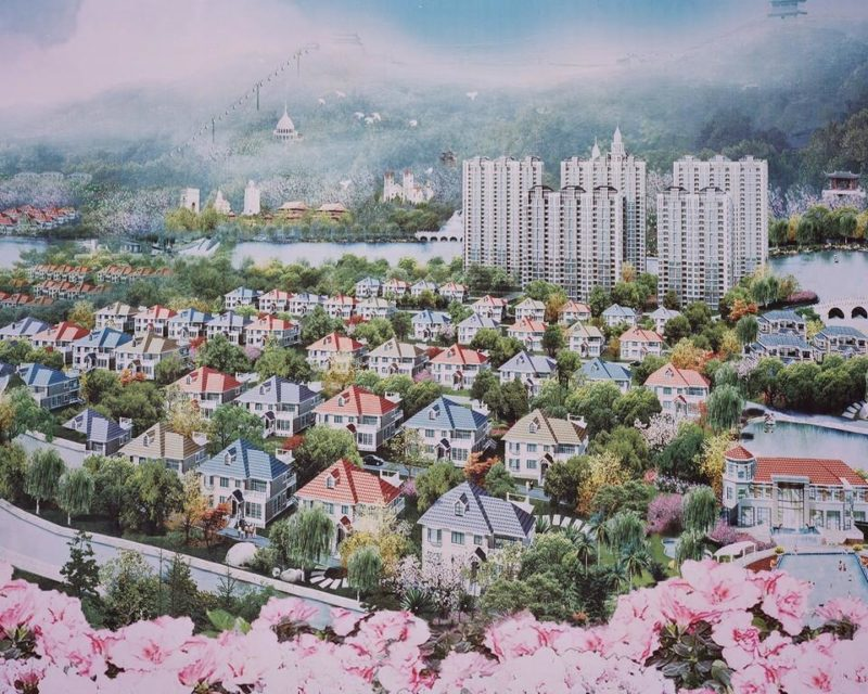 Depiction of the town's future, Huaxi Village
