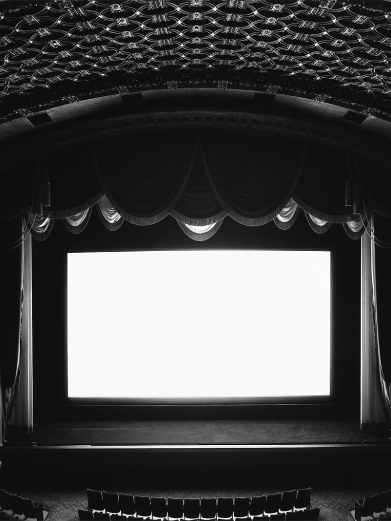 What is Hiroshi Sugimoto's Theaters photography project all about?