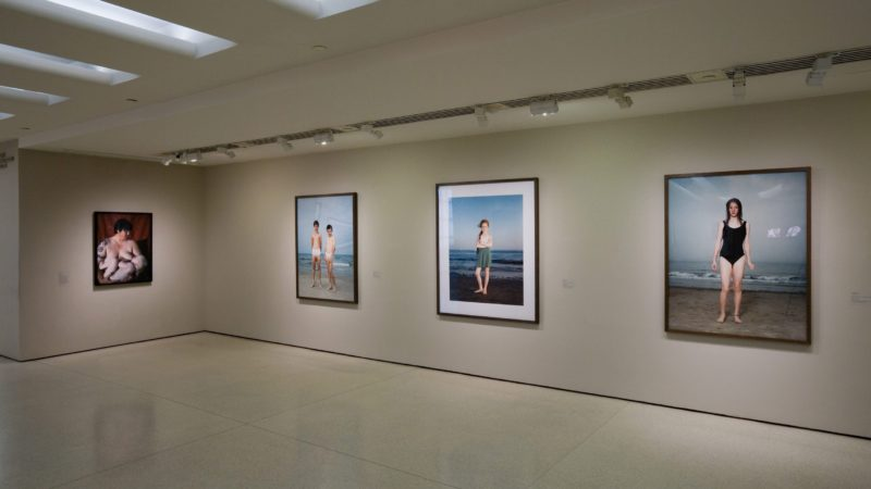 Installation view of Beach Portaits by Rineke Dijkstra at Family Pictures, Solomon R. Guggenheim Museum, New York, February 9 – April 16, 2007