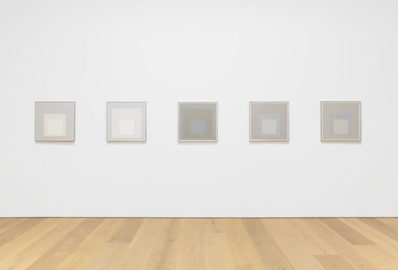 Josef Albers - Grey Steps, Grey Scales, Grey Ladders, installation view, David Zwirner, New York, 2016