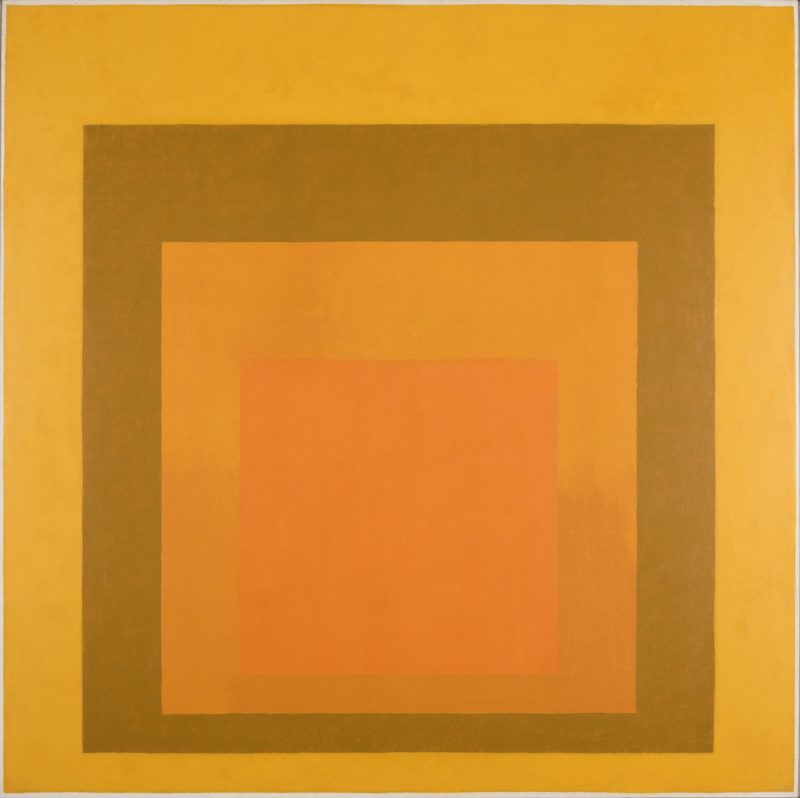 Josef Albers - Homage to the Square- Amber Setting, 1959, oil on masonite, 121.9 x 121.9 cm (48 x 48 in)