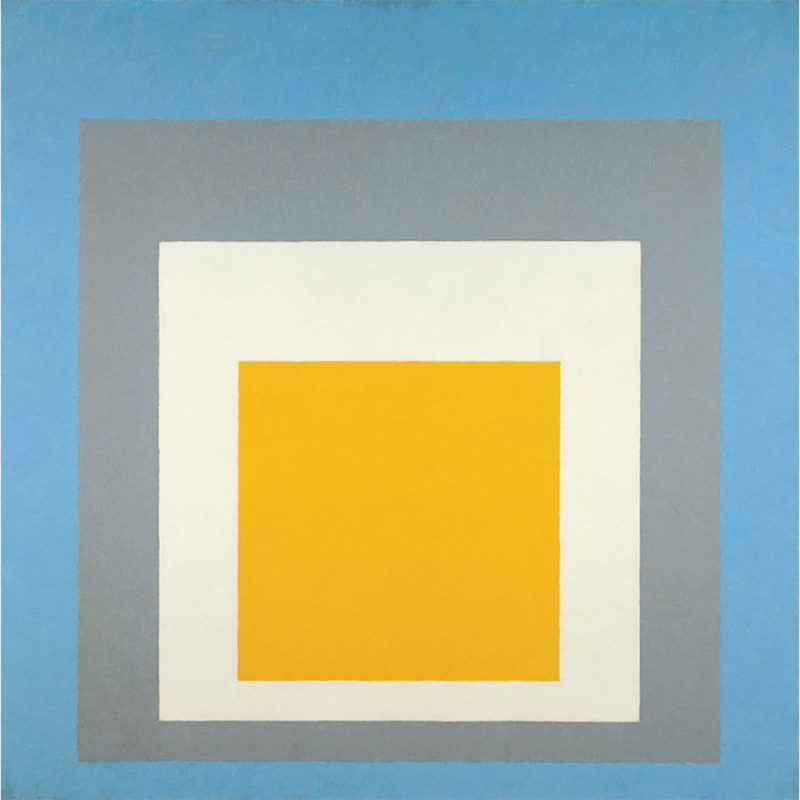 Josef Albers - Homage to the Square - Ascending, 1953, Oil on composition board, 110.3 × 110.3 cm (43 7:16 × 43 7:16 in.)