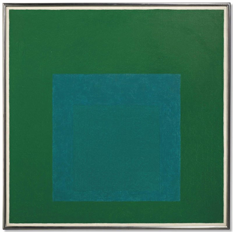 Josef Albers - Homage to the Square - Cool Rising, 1963, oil on masonite, 76 x 76 cm