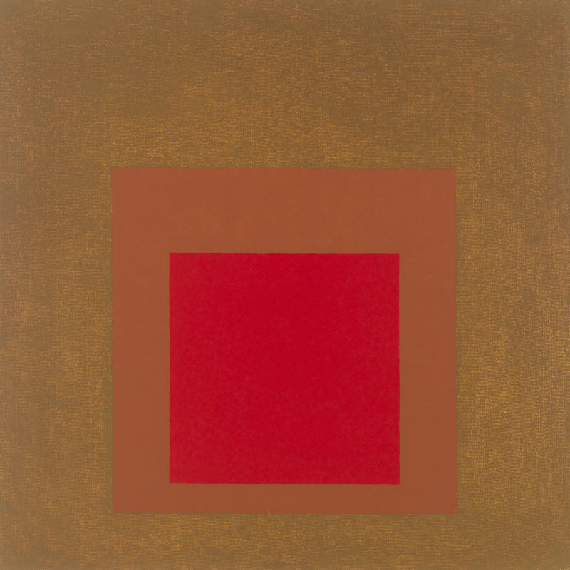 Josef Albers - Study for Homage to the Square - Rooted, 1961, oil on board, 76.2 x 76.2 cm (30 x 30 in)