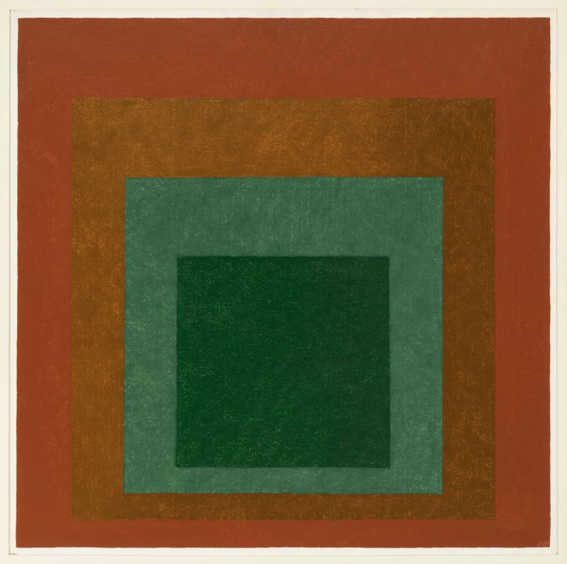 Josef Albers - Study for Homage to the Square - Terrestrial II, 1960, Oil on Masonite, 81.3 x 81.3 cm (32 x 32 in)