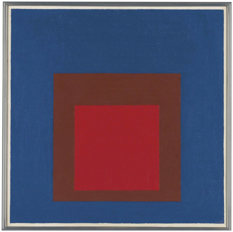 Josef Albers - Study to Homage to the Square - In Space, 1956, oil on masonite, 60.9 x 60.9 cm (24 x 24 in)