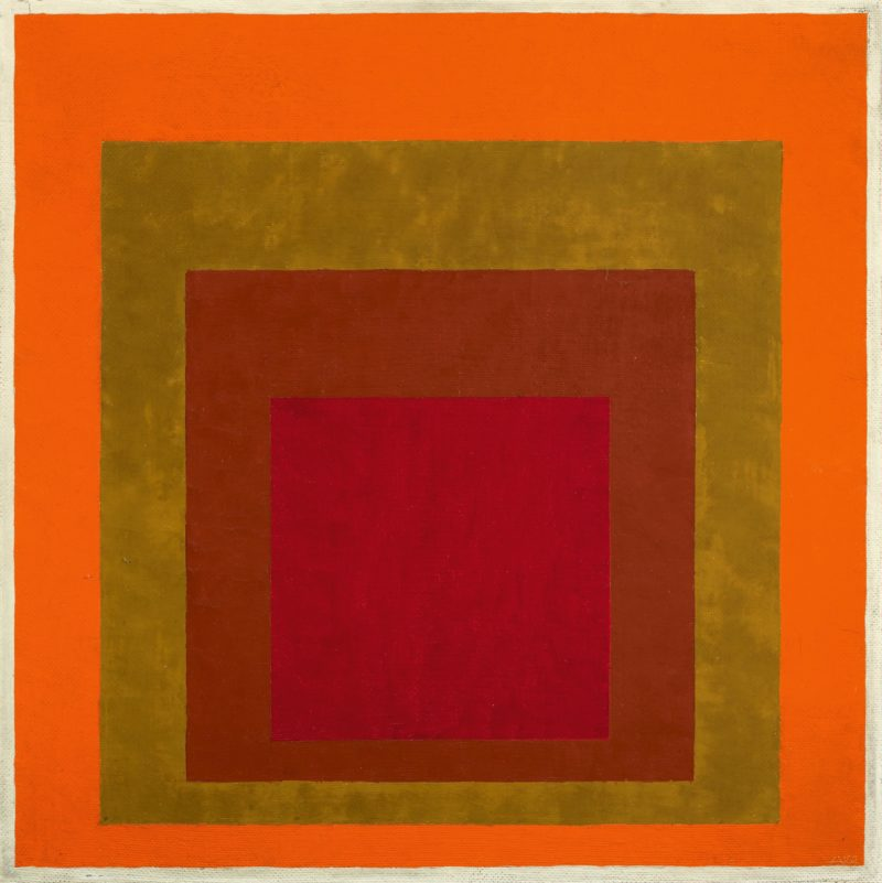 Josef Albers - Study to Homage to the Square - Warm Welcome, 1953 : 1955, oil on Masonite, 56 x 56 cm