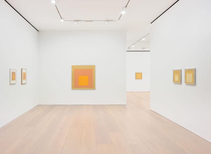 Josef Albers - Sunny Side Up, installation view, David Zwirner, London, 2017