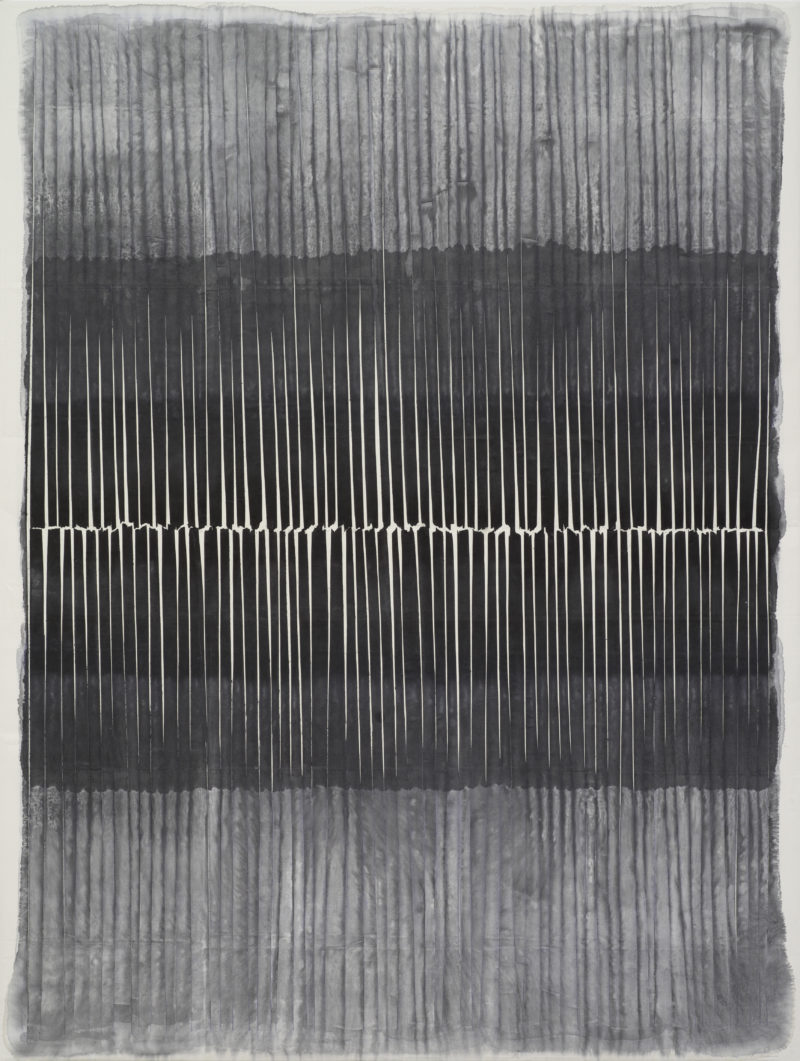 Kwon Young-Woo (권영우) – Untitled, 1984, gouache, chinese ink on paper, 224 x 170 cm