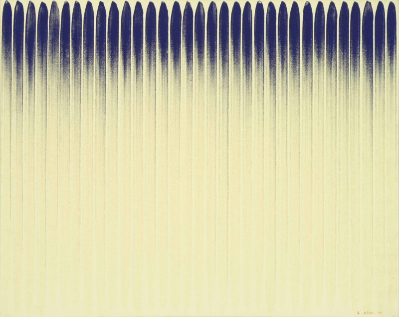 Lee Ufan (이우환) – From Line (No. 780103), 1978, Pigment Suspended in Glue on Canvas, 80 x 100 cm