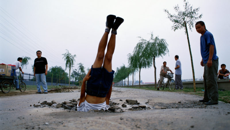 Li Wei - Falls to the Earth, Beijing 08.20., 2002