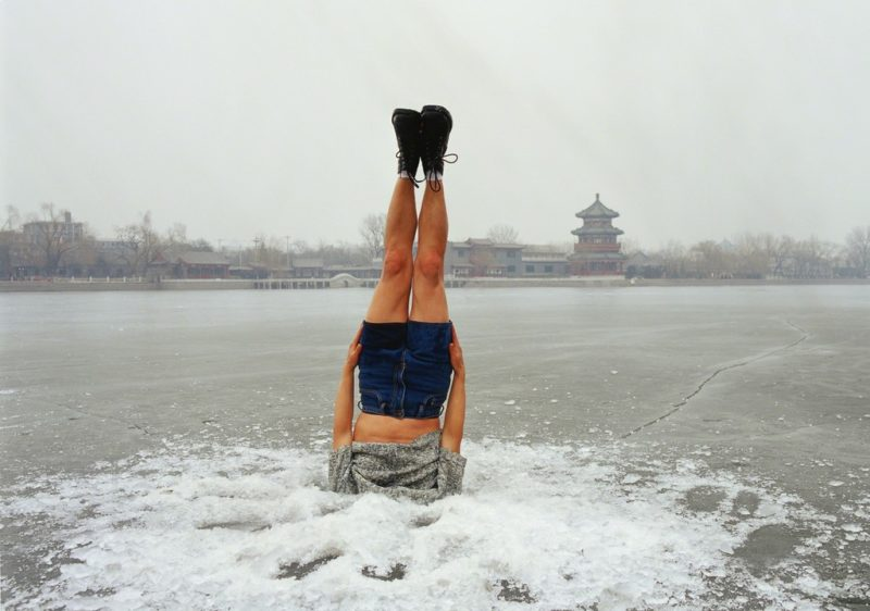 Li Wei - Falls to the Ice Hole, Beijing, 2004, 044-01