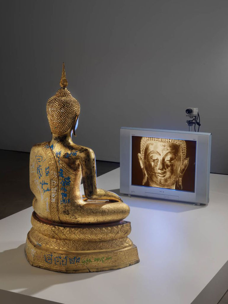 Nam June Paik's TV Buddhas - His best-known work