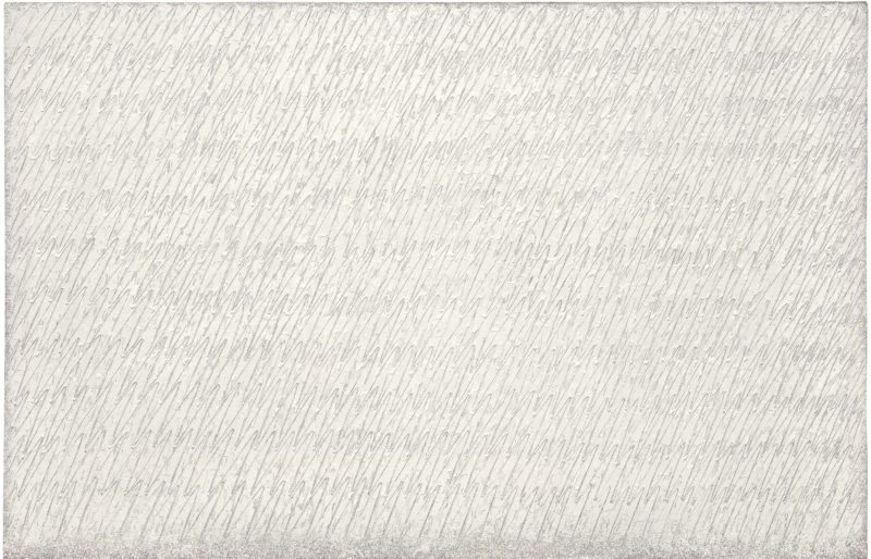 Park Seo-Bo (박서보) – Ecriture No. 89-79-82-83, 1983, pencil and oil on cloth, 194,5 x 300 cm