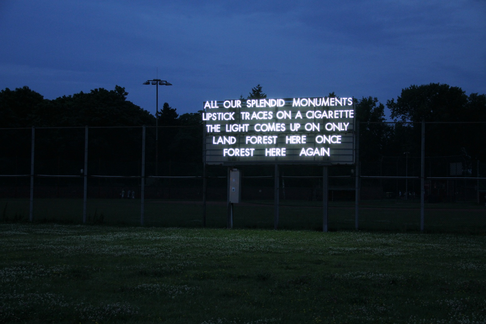 Robert Montgomery - All our splendid monuments, 2012, Berlin, Germany