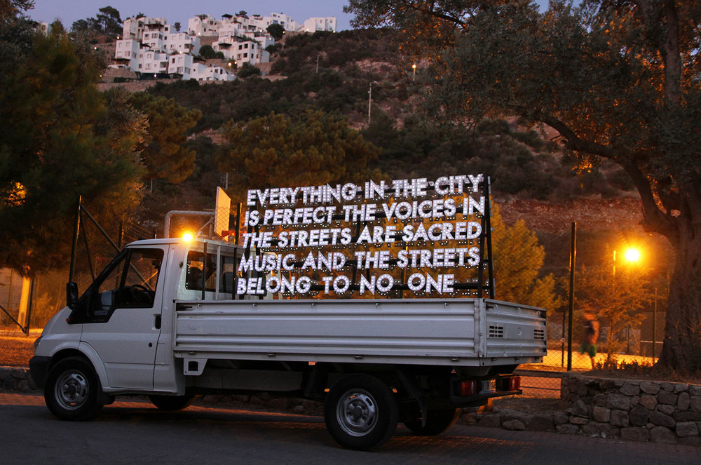 Robert Montgomery - Poem for the City of Istanbul, 2011