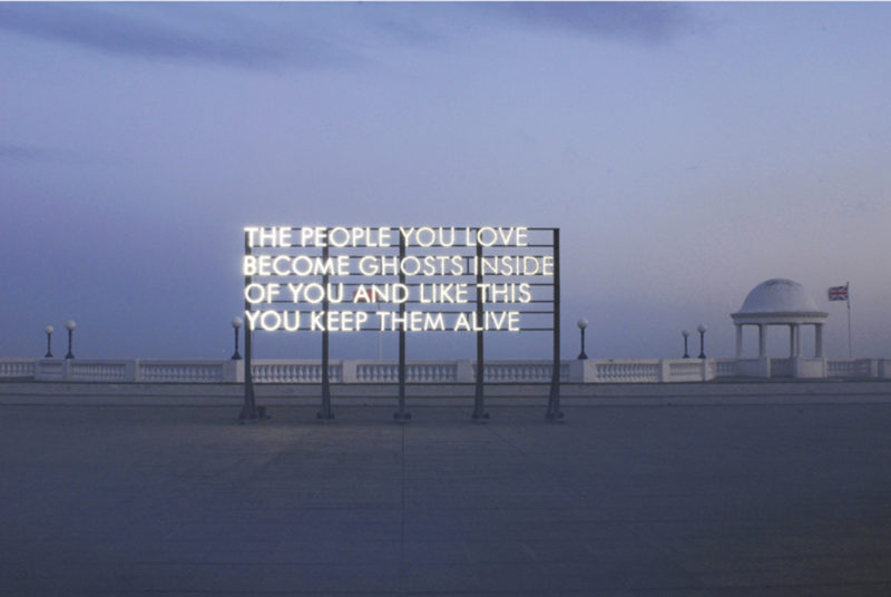 Robert Montgomery - The People you love become ghosts inside of you and like this you keep them alive, De La Warr Pavilion, Sussex, England, 2010