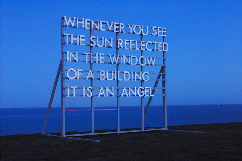 Robert Montgomery - Whenever You See The Sun, Hamish McAlpine and Carole Siller's garden Broadstairs, Kent, England, 2010