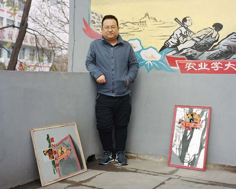 Shi Yangkun - Zhao Mingxing poses for a photo in Dazhai, Shanxi province, 2018