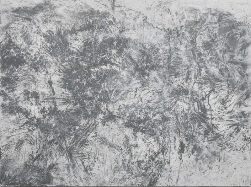 Youn Myeung-Ro - Traces of the Spirit MXIV-12, 2014, acrylic on linen, 194x 259 cm