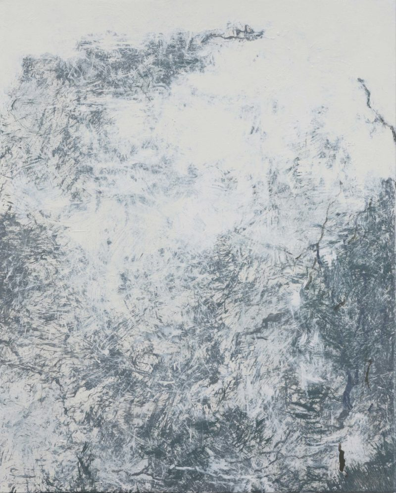 Youn Myeung-Ro (윤명로) – Winter into Spring MXIV-1220, 2014, acrylic on linen, 162 x 130 cm