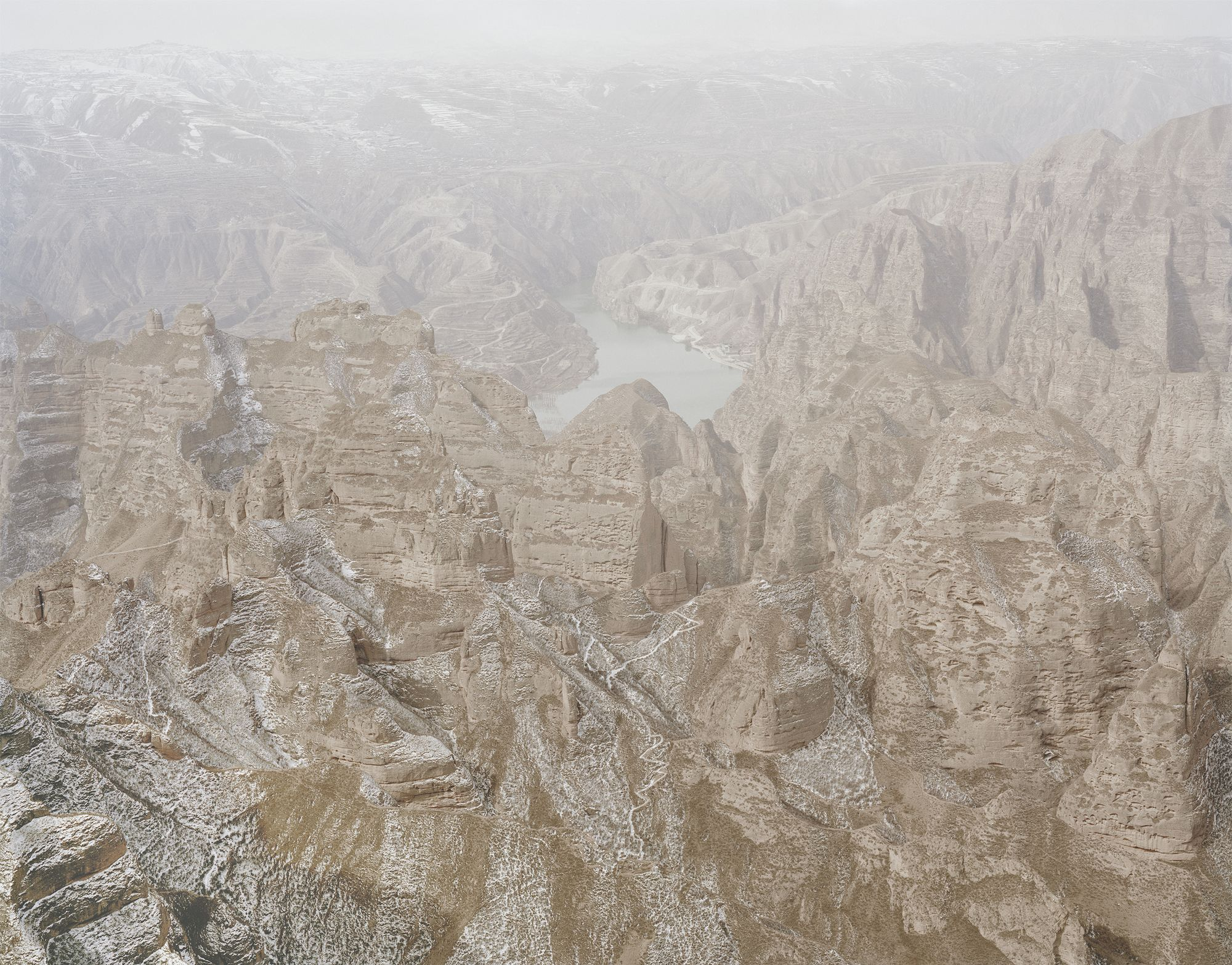 Zhang Kechun - Yellow River in the Middle of the Mountains, Gansu, 2011