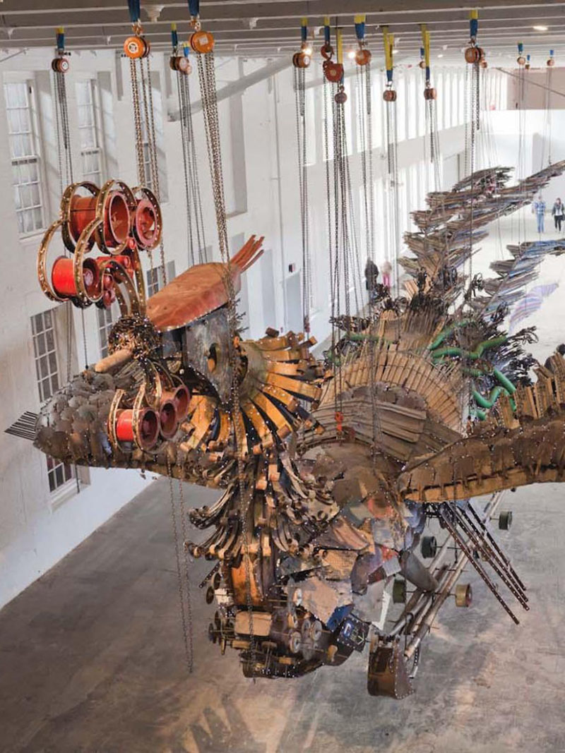 What is Xu Bing's gigantic Phoenix project?