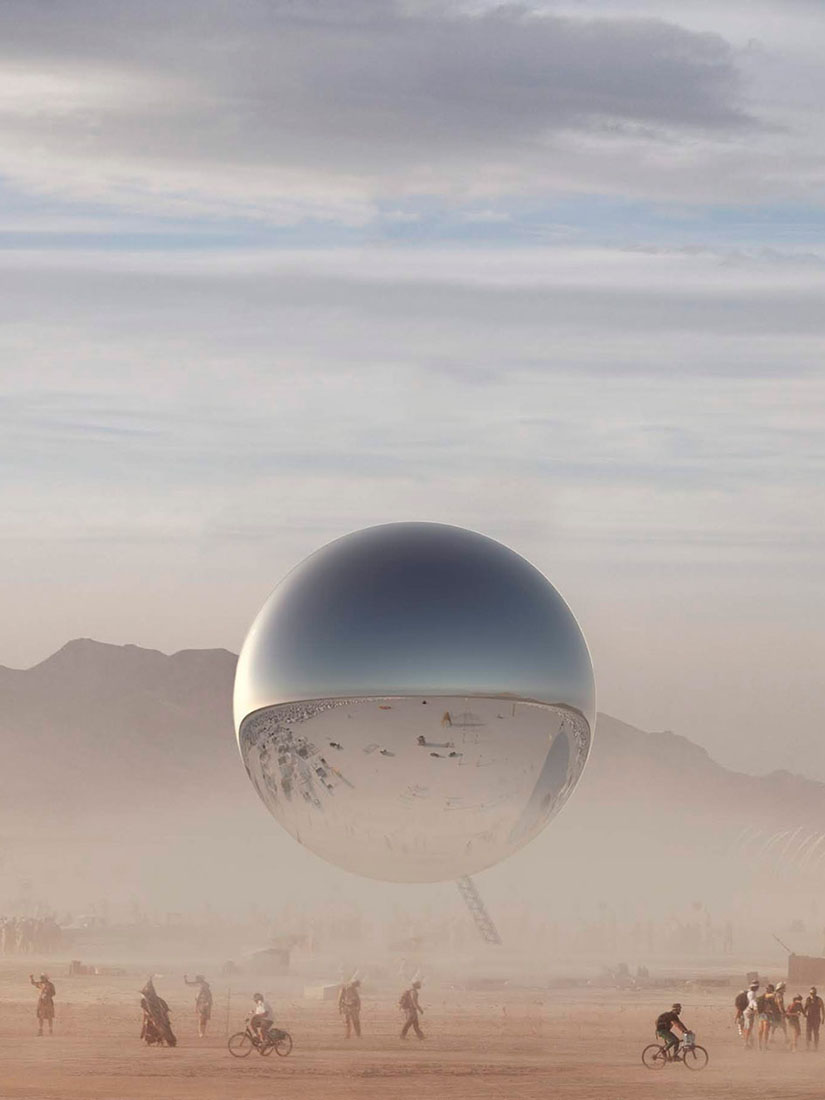 This was Burning Man's highlight: A massive, shiny orb