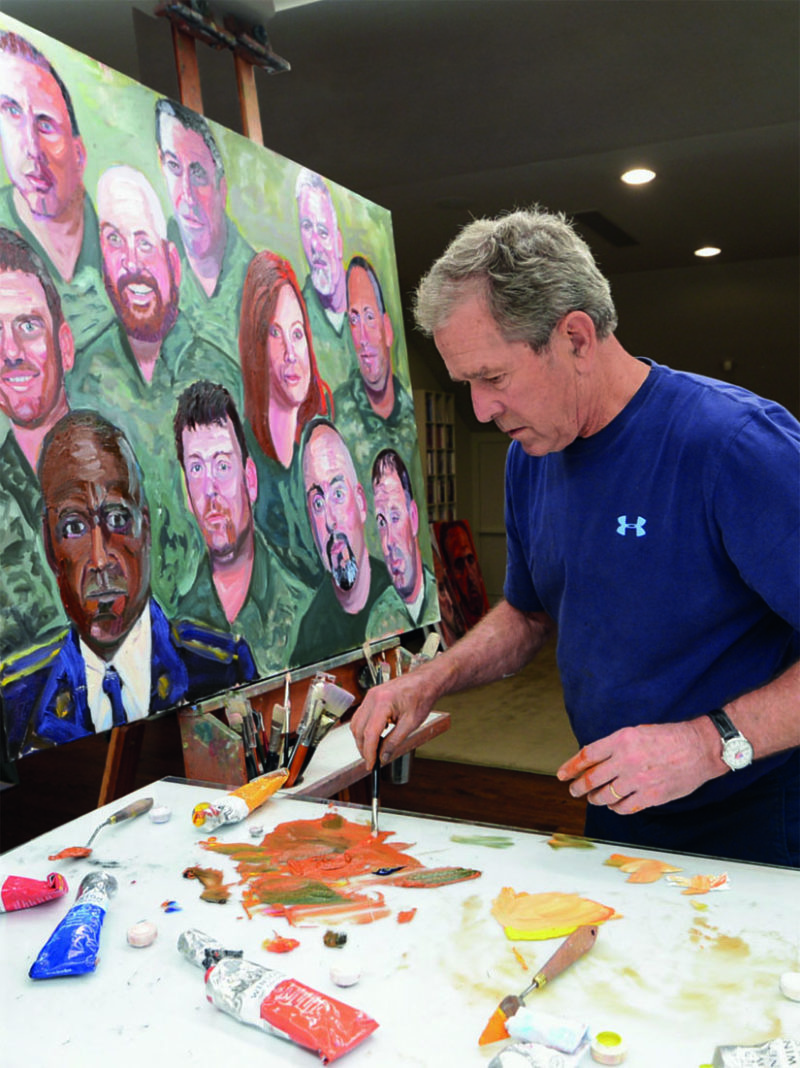 Critics are surprised by the quality of George W. Bush's paintings