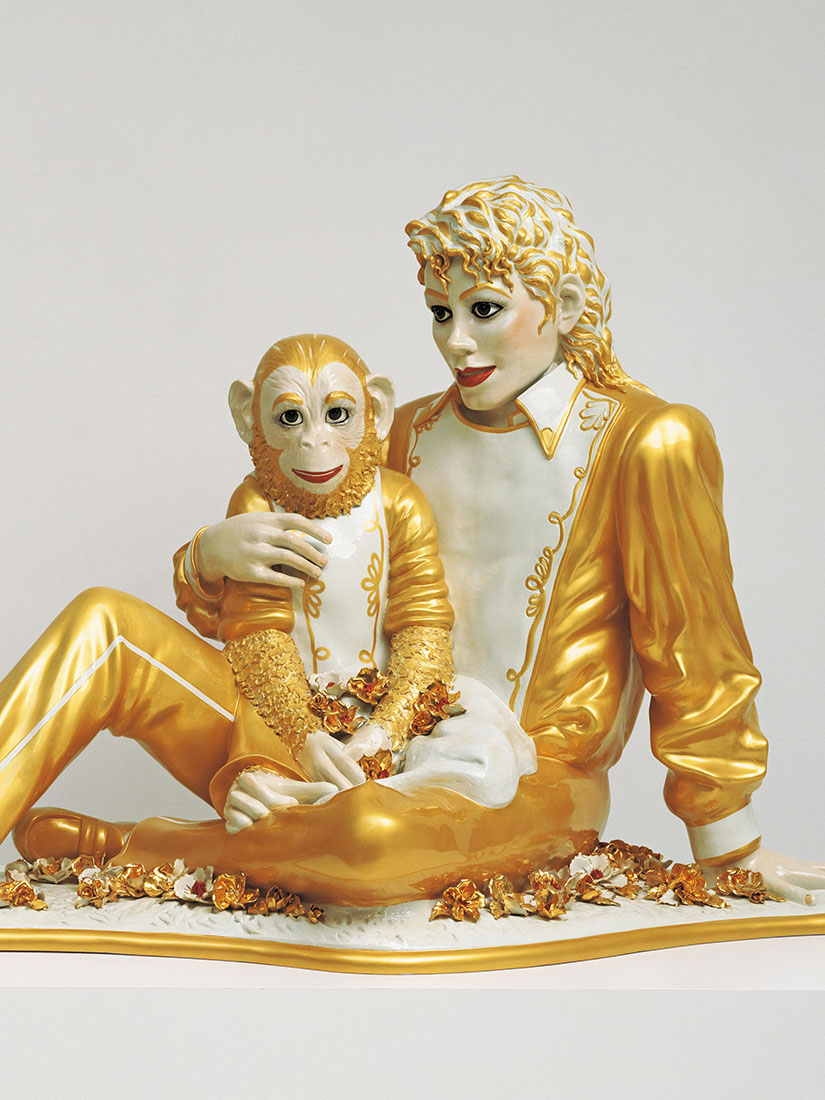 Michael Jackson & bubbles in controversial sculpture by Jeff Koons
