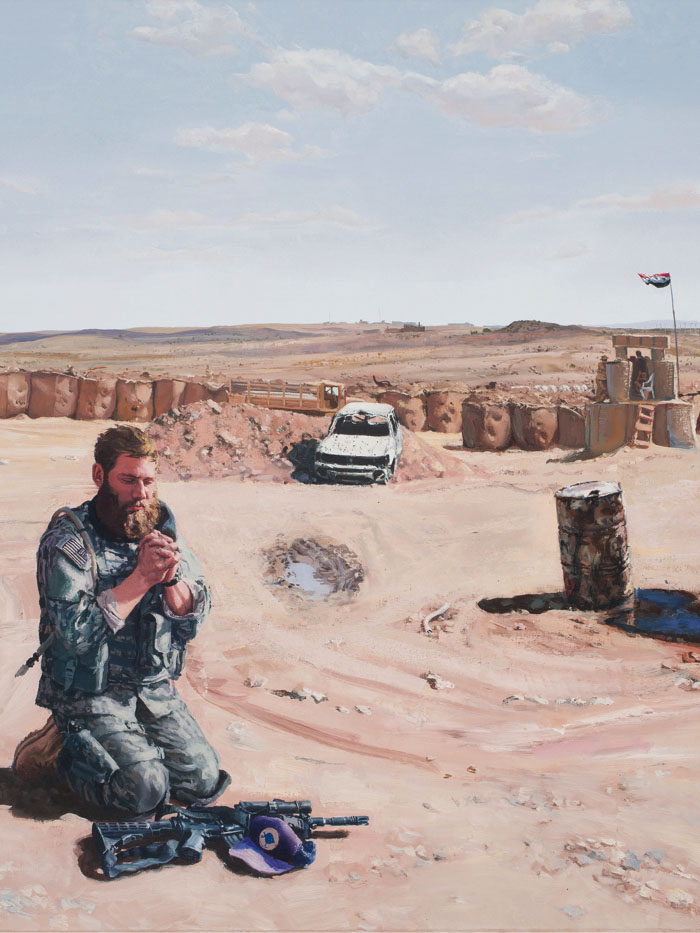 Steve Mumford's paintings show what happens in war-torn areas
