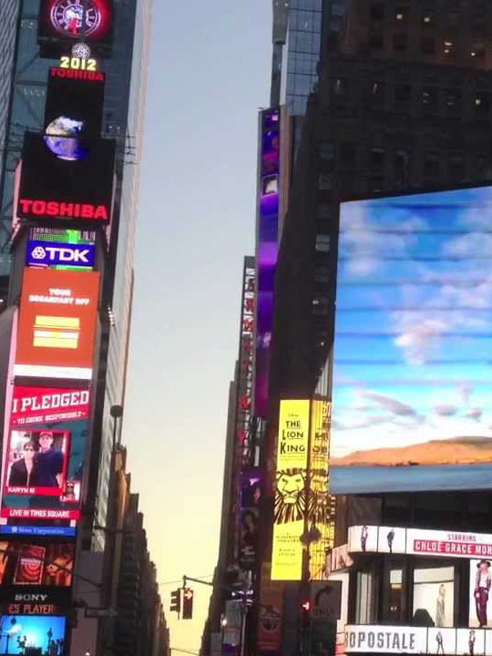 """""""Imagine Peace"""" on 15 giant billboards at Times Square, New York"""