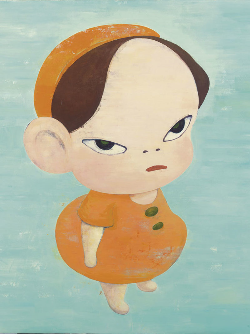 Yoshitomo Nara's paintings & drawings: Cute or dark and frightening?